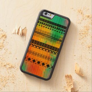 絞り染めの種族パターン CarvedチェリーiPhone 6バンパーケース