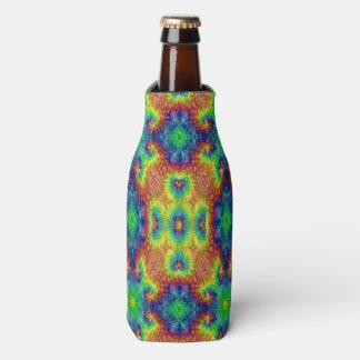 絞り染めの空のカラフルなボトルのクーラー ボトルクーラー