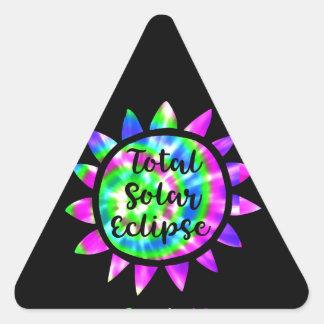 絞り染めの総日食のステッカー 三角形シール