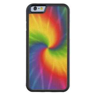 絞り染めの虹パターン CarvedメープルiPhone 6バンパーケース