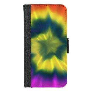 絞り染めの螺線形- iPhone 8/7のウォレットケース iPhone 8/7 ウォレットケース