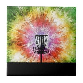 絞り染めディスクゴルフバスケット タイル