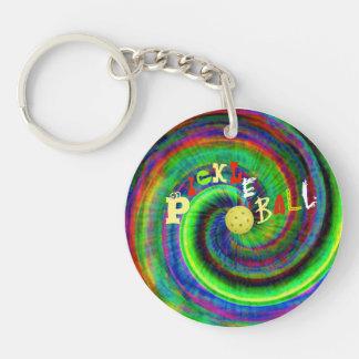絞り染めPickleball Keychain キーホルダー