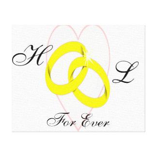 絡み合わせた結婚指輪 キャンバスプリント