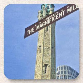 「給水塔が付いている壮麗なマイルの印、 コースター