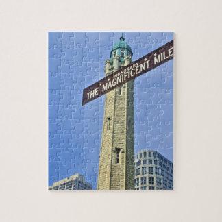 「給水塔が付いている壮麗なマイルの印、 ジグソーパズル