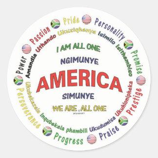 統一されたなアメリカ-南アフリカ共和国 ラウンドシール