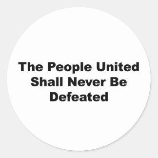 統一されたな人々は決して敗北しません ラウンドシール