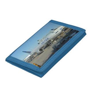 統一されたな飛行機のナイロン財布