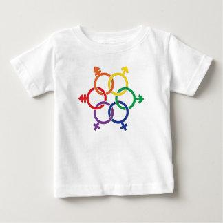 統一されたなLGBTQ ベビーTシャツ