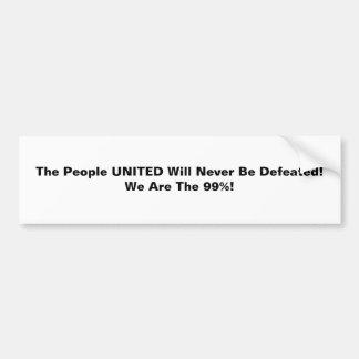統一されたなThの人々は決して敗北しません バンパーステッカー