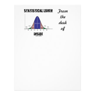 統計的な恋人の内部(鐘のカーブのユーモア) レターヘッド
