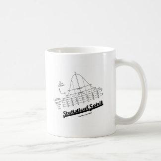 統計的な精神(正規分布のカーブ) コーヒーマグカップ