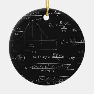 統計量の黒板 セラミックオーナメント