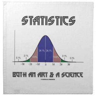 統計量芸術及び科学両方(鐘のカーブ) ナプキンクロス