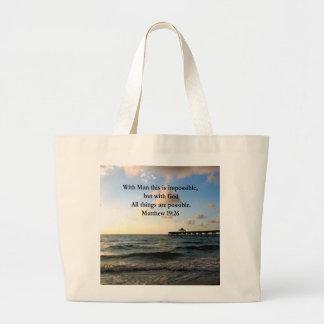 絵のようなMATTHEWの19:26の海の写真のデザイン ラージトートバッグ
