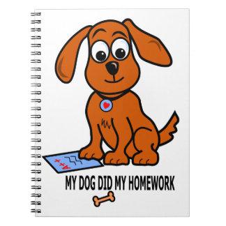 絵のノートの小さいブラウン犬 ノートブック