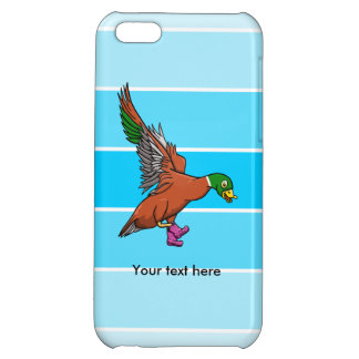 絵のブーツを持つアヒル iPhone5Cケース