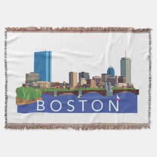 絵のボストンよくはしゃぐで、ユニークなスカイライン スローブランケット