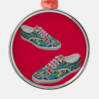 絵の具箱の靴のオーナメント メタルオーナメント
