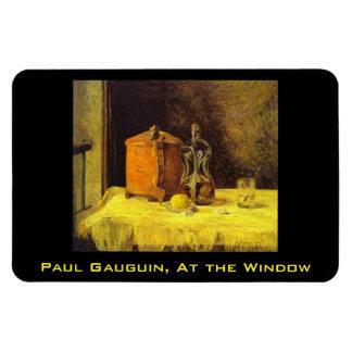 """絵を描いている""""窓""""のポール・ゴーギャン、 マグネット"""