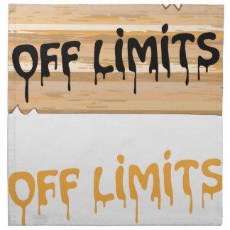 絵を描かれる立ち入り禁止区域の木製の印 ナプキンクロス
