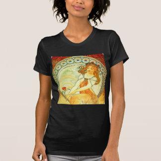 絵を描くこと。 ミュシャによる芸術シリーズから Tシャツ
