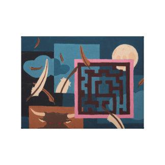 絵を描くこと-迷路(夜) キャンバスプリント
