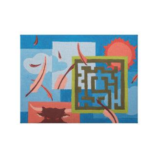 絵を描くこと-迷路(日) キャンバスプリント