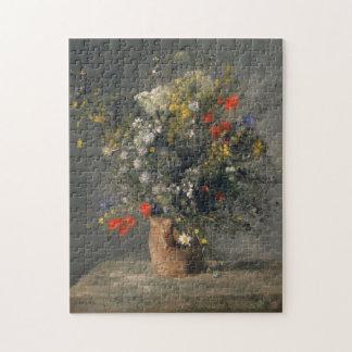 絵を描くピエールAugusteルノアールつぼの花 ジグソーパズル