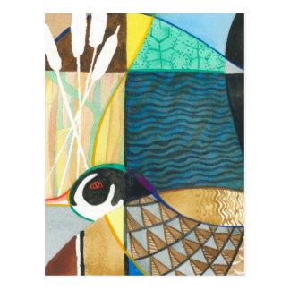 絵を描く自然の水鳥II ポストカード