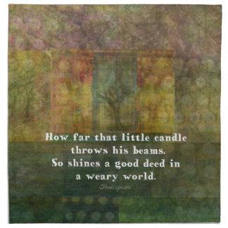 絵画のウィリアム・シェイクスピアの引用語句 プリントナプキン