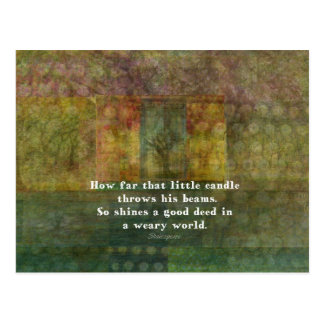 絵画のウィリアム・シェイクスピアの引用語句 ポストカード