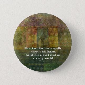 絵画のウィリアム・シェイクスピアの引用語句 5.7CM 丸型バッジ