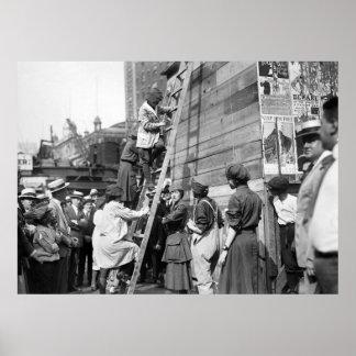 絵画のタイムズ・スクエアの劇場、20年代 ポスター