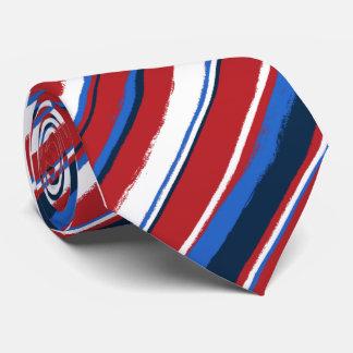 絵画的でストライプのなネクタイ オリジナルタイ