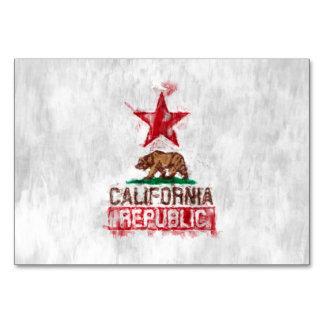 絵画的なスタイルのカリフォルニア共和国の旗くま カード