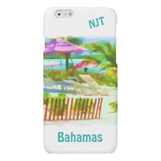 絵画的なバハマの夏期休暇のビーチ場面