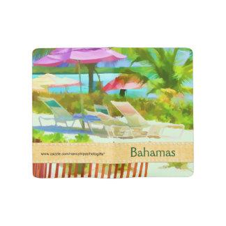 絵画的なバハマの夏期休暇のビーチ場面 ラージMoleskineノートブック