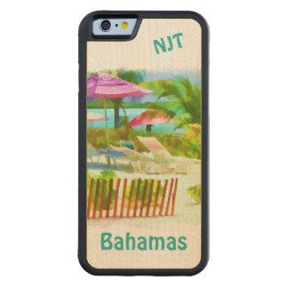 絵画的なバハマの夏期休暇のビーチ場面 CarvedメープルiPhone 6バンパーケース