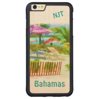 絵画的なバハマの夏期休暇のビーチ場面 CarvedメープルiPhone 6 PLUSバンパーケース