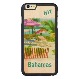絵画的なバハマの夏期休暇のビーチ場面 CarvedメープルiPhone 6 PLUS スリムケース