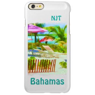 絵画的なバハマの夏期休暇のビーチ場面 INCIPIO FEATHER SHINE iPhone 6 PLUSケース