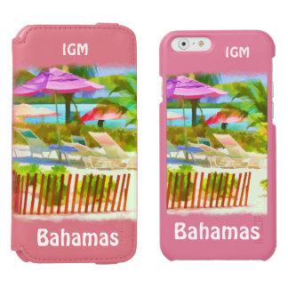 絵画的なバハマの夏期休暇のビーチ場面 INCIPIO WATSON™ iPhone 5 財布型ケース