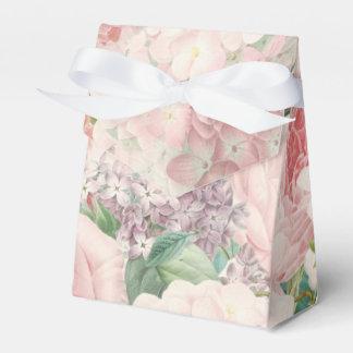 絵画的なレトロのバラのライラックの花の春パターン フェイバーボックス