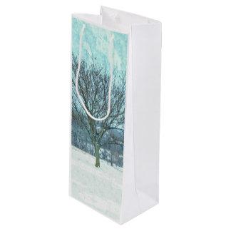 絵画的な冬のMimosa ワインギフトバッグ