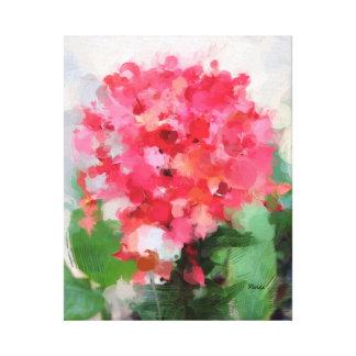 絵画的な熱帯花が付いているキャンバスのプリント キャンバスプリント