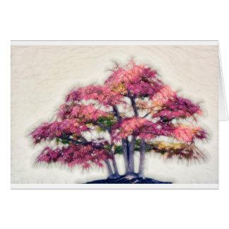 絵画的な盆栽のカエデの木のグループ グリーティングカード
