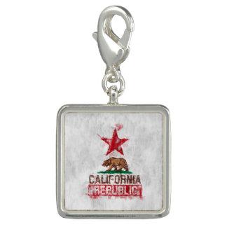 絵画的な装飾のカリフォルニア共和国の旗くま チャーム