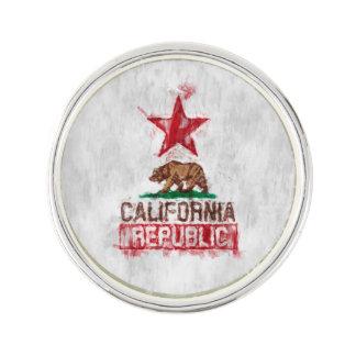 絵画的な装飾のカリフォルニア共和国の旗くま ラペルピン